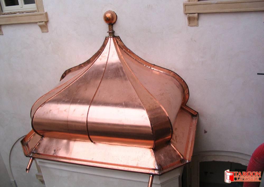 Lattoneria // Targon cupole in rame, coperture civili, coperture ...