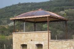 Tetto con cupola in rame