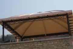 Struttura portante di cupola in rame lavorata