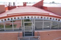 Realizzazione accessori lattoneria su copertura industriale