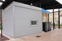 Realizzazione parcheggio in lamiera preverniciata